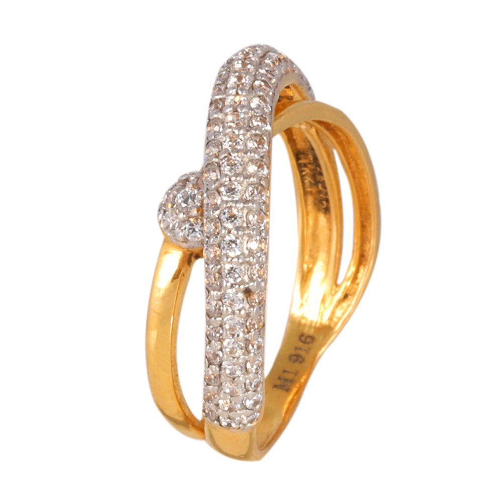 Gloria 22K Yellow Gold Finger Ring – Karan Kothari Jewellers